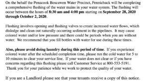 Water Main Flush 2020